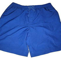 Lacoste Blue Gym Mens Shorts Lined Size 7 W/pockets Waist 34