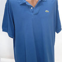 Lacoste Blue Short Sleeve Polo Shirt - Size 8 Photo