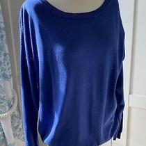 Lacoste Blue Silk /cotton  Blend Jumper 46/16 Photo