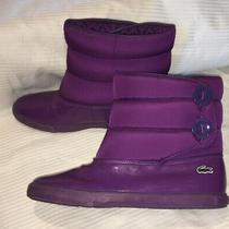 Lacoste Boots Womens Rain All Weather Purple Sz 9 Photo