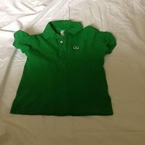 Lacoste Boys Green Short Sleeve Shirt Size 6 Photo