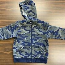 Lacoste Boys Kids Size 4 Zip Up Hoodie Camouflage Camo Jacket Green Olive Photo