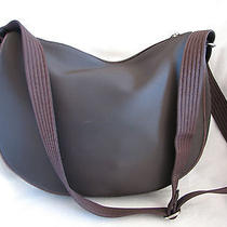 Lacoste Brown Coated Material Messenger Bag-Mint Photo