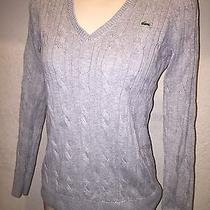 Lacoste Cable Knit Gray Sweater Size 36 Small S Photo