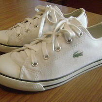 Lacoste Canvas Low Top Sneakers White Mens 6.5 Photo
