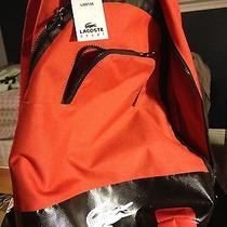 Lacoste Challenge Backpack Red Clay 135 Bnwt 100% Authentic Photo