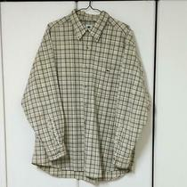 Lacoste Check Shirt Yellow Long Sleeves Old Clothes Size Xl(ll) Photo