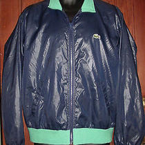 Lacoste Club Men's Vintage Retro Blue & Green Nylon Zip Jacket W/ Alligator M Photo