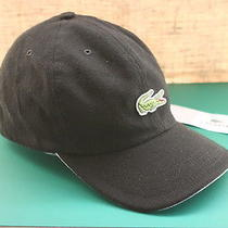 Lacoste Delphi Noir Black 100% Cotton Unisex Cap Hat New Photo