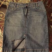 Lacoste Denim Jeans Skirt Blue Size 34 Photo
