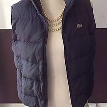 Lacoste Down Puffer Vest Blue Size 42 Photo