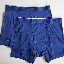 Lacoste Essential Cotton Boxer Briefs - Blue - Medium - Supima Cotton Photo