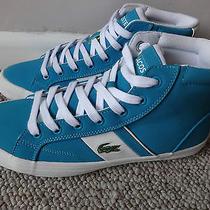 Lacoste Fairlead Mid L Ladies Trainers Shoes Turquoise  Uk 4 Eu 37 Us 5. New Photo
