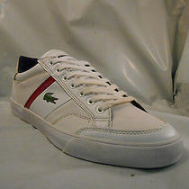 Lacoste Fairlead White Leather Fashion Sneakers Men's Size 8 M Photo