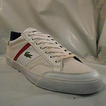 Lacoste Fairlead White Leather Fashion Sneakers Men's Size 8 M Photo