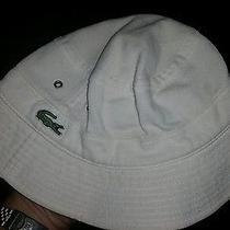 Lacoste Fishing Hat. White. Size Medium/3. Photo