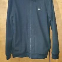Lacoste Fleece Black Full Zip Jacket L  Large Sz 6 Mens Photo