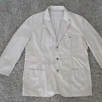 Lacoste Khaki Tan Cotton Sports Coat Jacket Blazer Men 58 8 Cotton Unstructured Photo