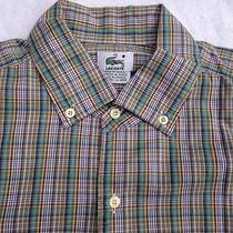 Lacoste L/s Button-Front Striped Shirt Mens Size 40  Medium Photo