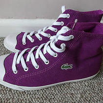 Lacoste L27 Mid Cre Ladies Trainers Shoes Purple  Uk 4 Eu 37 Us 5. New With Tags Photo