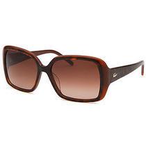 Lacoste L623s-214 Women's Rectangle Brown Polarized Sunglasses Photo