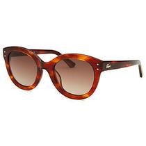 Lacoste L667s-218 Women's Round Tortoise Sunglasses Photo