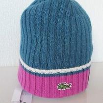 Lacoste Limited Edition Wool Bland Beanie Hat in Baltique Rb7882 60 Bnwt  Photo