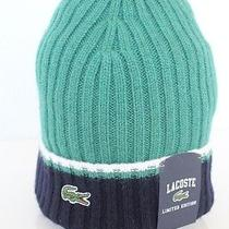Lacoste Limited Edition Wool Bland Beanie Hat in Yucca Rb7882 60 Bnwt  Photo