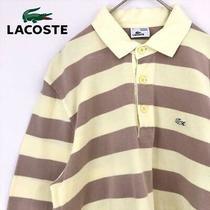 Lacoste Long Sleeve Polo Shirt Border Yellow Szie Xl(ll) Photo