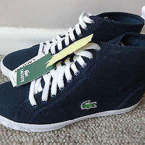 Lacoste Marcel High Ladies Trainers Shoes Navy Uk 4 Eu 37 Us 5. New With Tags. Photo