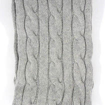 Lacoste Medium Gray Cable Knit Wool Blend Knit Scarf  Photo