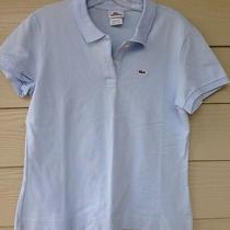 Lacoste Melon Blue Polo Shirt Size 46  Medium Free Shipping Photo