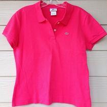 Lacoste Melon Pink Polo Shirt Size 46  Medium Free Shipping Photo