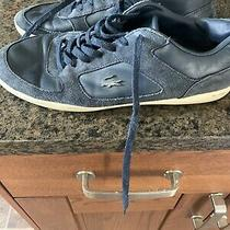 Lacoste Men's Court-Minimal 316 1 Navy Suede/leather Sneakers Shoes Sz 9 Photo