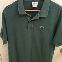 Lacoste Men's Green Polo Shirt Size 6 Large Photo