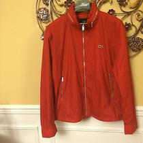 Lacoste Men's Lightweight Water Repellent Nylon Jacket Red Size L Photo