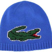 Lacoste Men's Logo Cashmere Beanie Knit Hat Skull Cap Photo