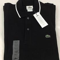 Lacoste Men's Polo Shirt Nwt Black White Stripe on Collar Size Eu 4 Us S Photo
