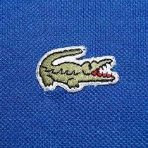 Lacoste Men's Polo Shirt Size Xl Long Sleeve Cotton Blue Photo