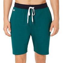 Lacoste Men's Sleepwear Green Size Xl Colorblocked Pajama Shorts 34 300 Photo