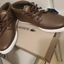 Lacoste Men's Timeless Fashion Asparta 319 Brown Leather Sneakers Shoes Size 13 Photo