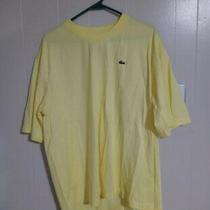 Lacoste Men Size 6 Yellow Xl Regular Fit Crewneck T Shirt Tee Vintage Rare Photo