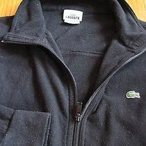 Lacoste Mens Black Fleece Full Zip Jacket Coat Medium M 4 France  Photo