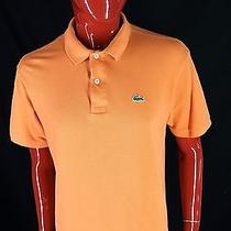 Lacoste Mens Size 6 Large Orange Short Sleeved Polo Shirt Great Color L Photo