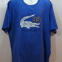 Lacoste Mens Tshirt Tee Crewneck Obscurite Blanc Capitaine Blue Size Sz 3xl Nwt Photo