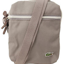 Lacoste Mens Vertical Camera Bag in Cloudburst Black White O/s M Us Photo