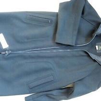 Lacoste New Men Galaxie Wool Coat Color Navy Blue Size 48 Photo