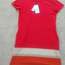 Lacoste Nwt Coral/orange Casual Dress Size 40 Photo