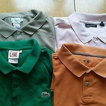 Lacoste & Others Men Polo Shirt Lot Size Large S/s Guc Photo
