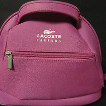 Lacoste Parfums Pink Make-Up Vanity Case Bag Purse  Photo